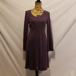 Spense Women's Purple Sweater Dress Medium